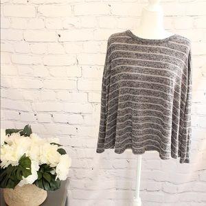 CATO striped Dolman Sleeve Sweater